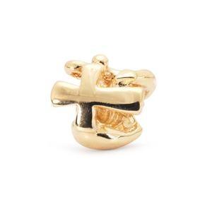 Trollbeads – Faith, Hope & Charity Bead, Gold – 21119