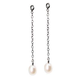Fancy Drops Earrings with Pearl, 3.5cm-1.37 inch
