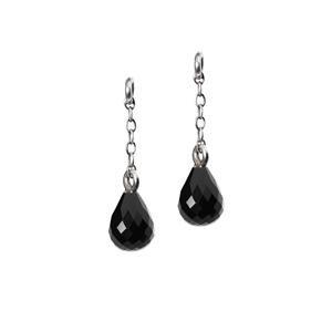 Trollbeads – Fancy Facet Drops Earrings with Onyx, 1 cm / 0.4 inch – 56502-01