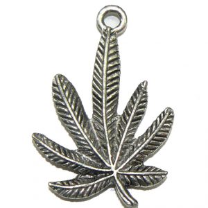 Hemp Leaf - Pewter Charm