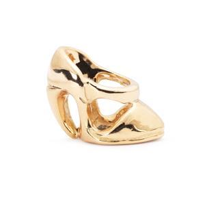 High Heel Bead, Gold