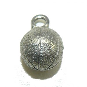 Large Basketball Pewter Charm