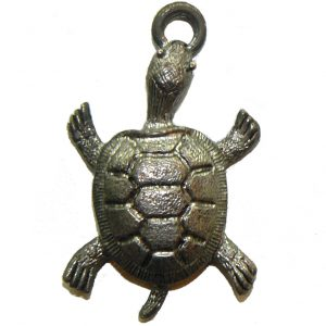 Large Turtle - Pewter Charm
