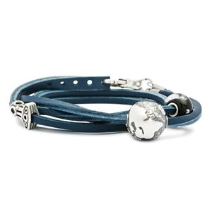 Leather Bracelet, Blue