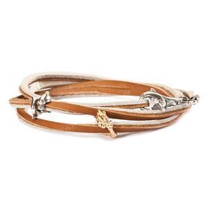 Trollbeads – Leather Bracelet, Brown-Beige – L5112