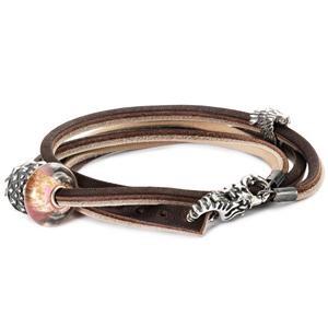 Trollbeads – Leather Bracelet, Brown-Light Grey – L5116