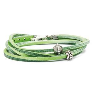 Trollbeads – Leather Bracelet, Green – L5108-36