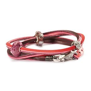 Leather Bracelet, Red-Bordeaux