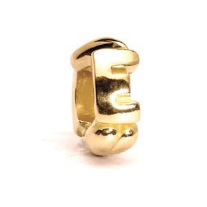 Letter Bead, E, Gold