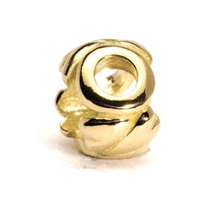 Letter Bead, O, Gold