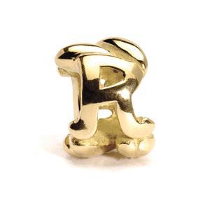 Lettter Bead, R, Gold