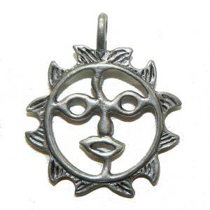 Mr Sun Pewter Charm