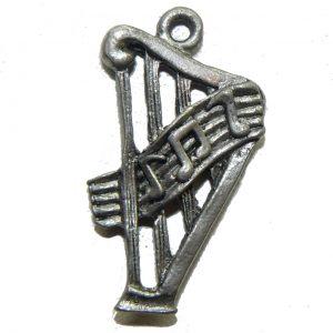Music Harp – Pewter Charm