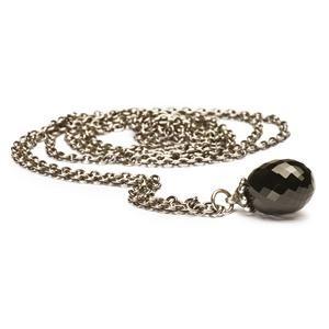 Trollbeads – Fantasy Necklace with Black Onyx , size 31.5 inch (80 cm) – 54801080