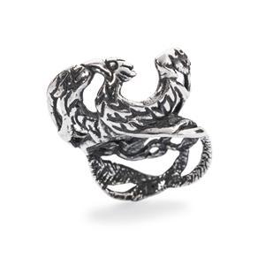 Phoenix Bead, Silver