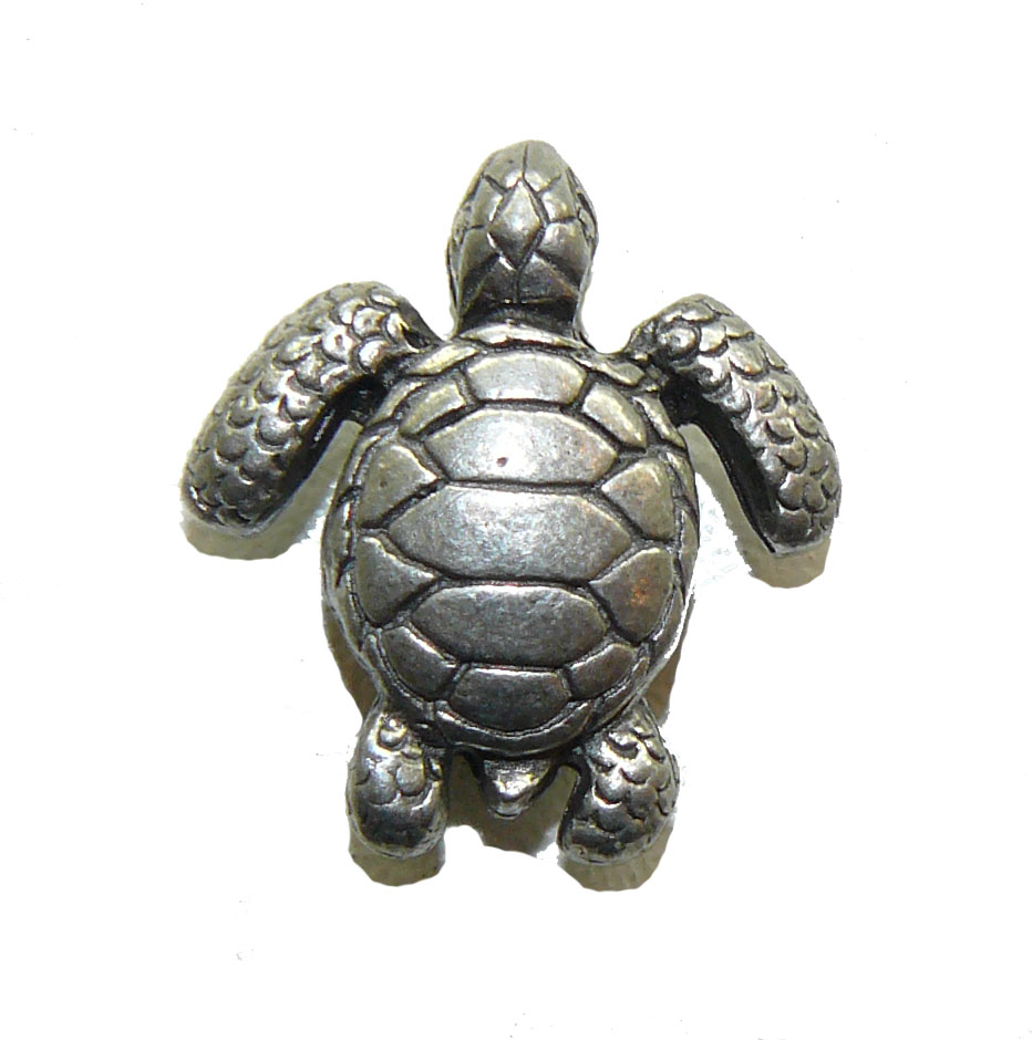 Sea Turtle - Pewter Bead