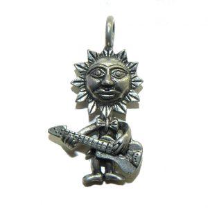Sun Playing Guitar Pewter