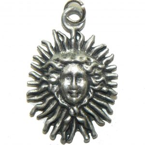 Sunny Face Pewter Charm