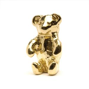 Teddy Bear Bead, Gold