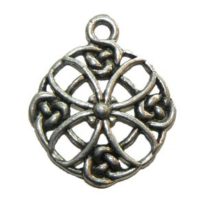 Celtic Circle Flower - Pewter Charm