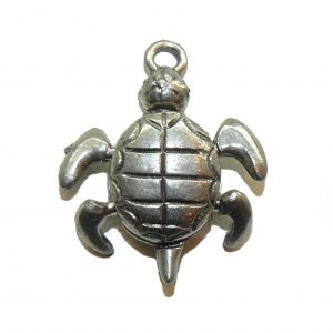 Movable Sea Turtle - Pewter Charm