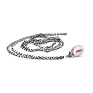 Trollbeads - Fantasy Necklace, Rose Pearl
