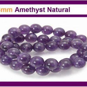 Amethyst 8mm Round Beads 15.5inch Strand
