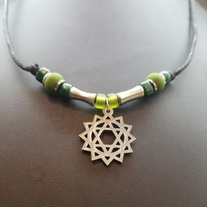 Anahata/Heart Chakra- Slipknot Necklace