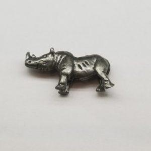 Rhino – Pewter Charm