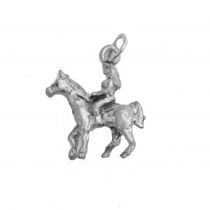 Ģirl On Horse – Pewter Charm