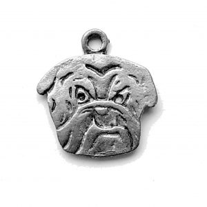 Bull Dog Head – Pewter Charm
