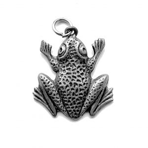 Bumpy Frog – Pewter Charm