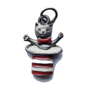 Cat In The Hat – Pewter Charm
