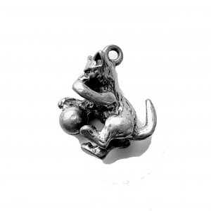 Cat With Ball – Pewter Charm