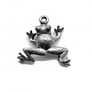 Chubby Frog Charm – Pewter Charm