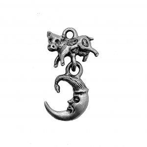 Cow Jumping Over The Moon – Pewter Charm