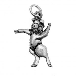 Dancing Pig – Pewter Charm