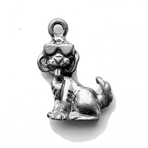 Dog With Sunglasses- Pewter Charm