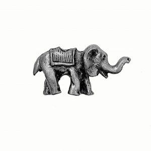 Elephant Ride Bead – Pewter Charm