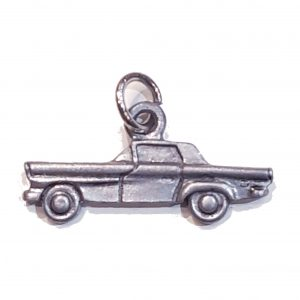 Flat Old Car – Pewter Charm