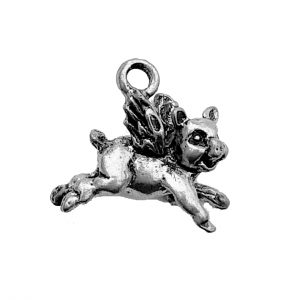 Flying Pig – Pewter Charm