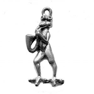 Frog Playing Sax – Pewter Charm