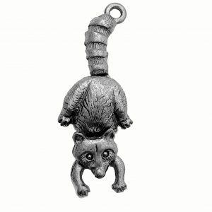 Hanging Possum – Pewter Charm