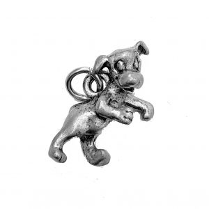 Happy Pup – Pewter Charm