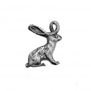 Hare Rabbit – Pewter Charm