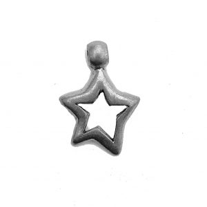 Hollow Star – Pewter Charm