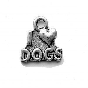 I Love Dogs – Pewter Charm