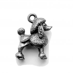 Poodle – Pewter Charm