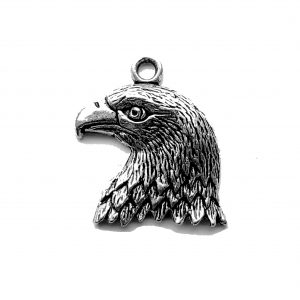 Small Eagle Head – Pewter Charm