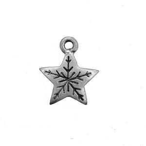Snowflake Star – Pewter Charm